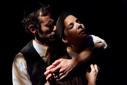 L-R: Jason Schuchman and Anne Gottlieb in My Name Is Asher Lev at Lyric Stage. Photo by Mark S. Howard.